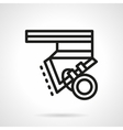 Longboard parts black line design icon vector image vector image