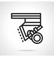 Longboard parts black line design icon vector image vector image