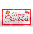 Merry christmas concept banner cartoon style