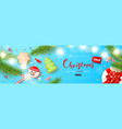 merry christmas sale banner holiday background vector image vector image