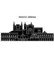 mexico merida architecture urban skyline with vector image vector image