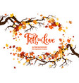 nature fall template vector image vector image