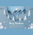 origami paper art christmas postcard banner vector image