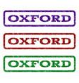 oxford watermark stamp vector image