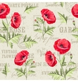 Pattern of poppy flowers vector image vector image