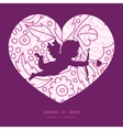 pink flowers lineart shooting cupid vector image vector image