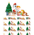 seamless background design with children and vector image vector image