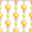 seamless pattern of lightbulbs on white background vector image