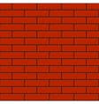 Seamless Tiled Red Brick Wall vector image