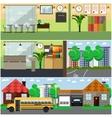 set of school interior concept design vector image vector image