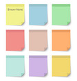 set of sticky notes with flat and pastel color vector image