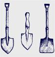 Shovel sketch vector image vector image