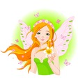 spring fairy with narcissus vector image vector image
