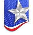 Stars and Stripes Portrait Silver Star vector image vector image