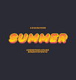 summer font 3d bold color style vector image vector image
