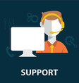 support staff icon vector image vector image