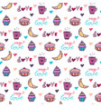 sweets seamless pattern with cupcake and vector image vector image
