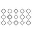 text frame monogram rhombus art banner set vector image