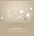 thread icon on a brown background with elegant vector image
