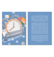 time management poster with round clock vector image
