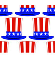 uncle sam hat pattern vector image vector image