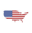 usa states flag america on a white background vector image vector image