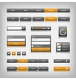 web design elements with reflection vector image vector image