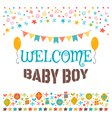 Welcome baby boy Announcement card Baby shower vector image vector image