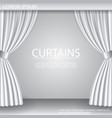 white luxurious elegant opened curtains template vector image vector image
