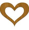 Wooden heart vector image vector image