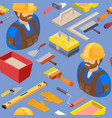 workers and tools seamless pattern vector image