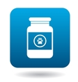 Veterinary medicament bottle icon simple style vector image
