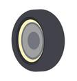 bus wheel icon isolated icon vector image
