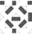 hanging sign with text sale icon seamless pattern vector image