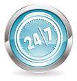 24/7 button vector image vector image