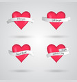 2x2 love cards vector image vector image