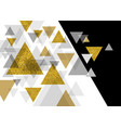 abstract luxury background design of triangle vector image vector image