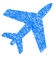 airplane grunge icon vector image vector image