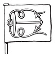 anchor is usual to place it in pale and it vector image vector image
