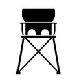 baby portable travel high chair vector image vector image