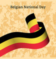 belgian national day ribbon with stripes colors vector image vector image