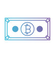 bill bitcoin commerce technology icon vector image