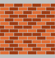 brown seamless brick wall vector image vector image