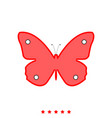 butterfly it is icon vector image