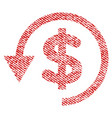 chargeback fabric textured icon vector image