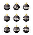 Christmas decoration balls vector image vector image