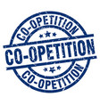 co-opetition blue round grunge stamp vector image vector image