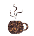 Coffee Cup Made of Roasted Coffee Beans vector image vector image