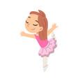 cute girl ballerina dancer cartoon character vector image vector image