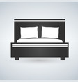 double bed web icon design vector image vector image
